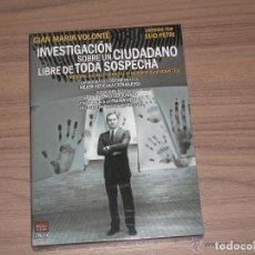 Cine: INVESTIGACION SOBRE UN CIUDADANO LIBRE DE TODA SOSPECHA DVD GIAN MARIA VOLONTE NUEVA PRECINTADA. Lote 213729738