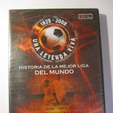 Cine: DVD LA MEJOR LIGA DEL MUNDO 1928 2008 DI STEFANO CONTRA KUBALA 1950-1955 RTVE LFP NUEVO PRECINTADO. Lote 149589154