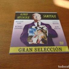 Cine: DVD CINE GRAN SELECCIÓN EN DVD ALFRED HITCHCOCK: SABOTAJE. Lote 149766978