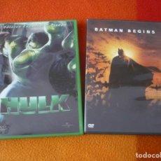 Cine: BATMAN BEGINS ( NOLAN ) + HULK EDICION ESPECIAL 2 DISCOS ( ANG LEE ) DVD . Lote 149841986