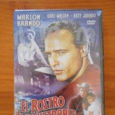 Cine: DVD EL ROSTRO IMPENETRABLE - MARLON BRANDO - NUEVA, PRECINTADA (6F). Lote 149929210