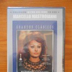 Cine: DVD MATRIMONIO A LA ITALIANA - SOPHIA LOREN - MARCELLO MASTROIANNI - NUEVA, PRECINTADA (D8). Lote 150078042