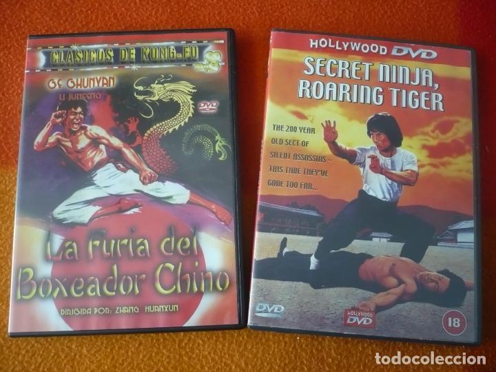 LA FURIA DEL BOXEADOR CHINO + SECRET NINJA, ROARING TIGER DVD ACCION KUNG FU ARTES MARCIALES (Cine - Películas - DVD)