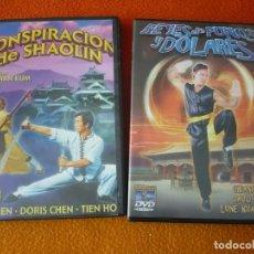 Cine: CONSPIRACION DE SHAOLIN + REYES DE PUÑOS Y DOLARES DVD ACCION KUNG FU ARTES MARCIALES. Lote 150208674