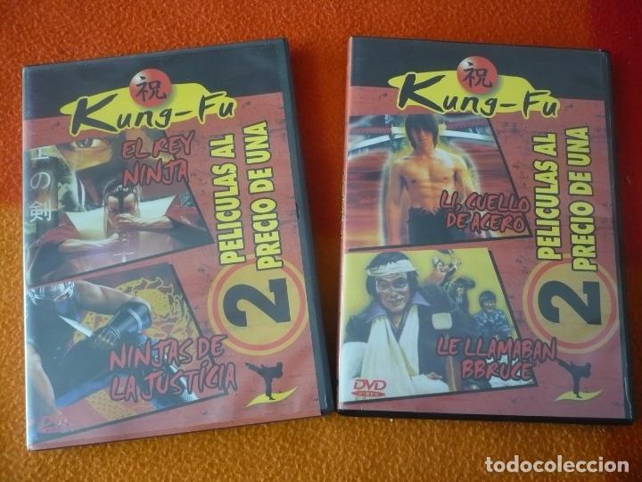 EL REY NINJAS DE LA JUSTICIA + LI CUELLO DE ACERO LE LLAMABAN BRUCE DVD KUNG FU ARTES MARCIALES (Cine - Películas - DVD)