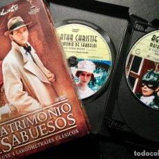 Cine: MATRIMONIO DE SABUESOS, DE AGATHA CHRISTIE. 10 DVD, INCLUYE CUATRO LARGOMETRAJES. Lote 150372382