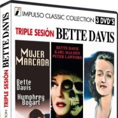 Cine: TRIPLE SESION BETTE DAVIS (DVD-R). Lote 150896152