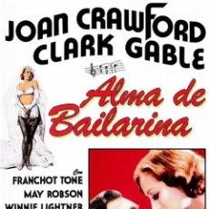 Cine: ALMA DE BAILARINA (DANCING LADY). Lote 150916410