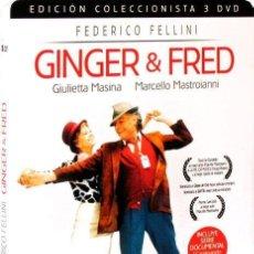 Cine: GINGER & FRED - EDICIÓN COLECCIONISTA 3 DISCOS - ESTUCHE METÁLICO (GINGER E FRED). Lote 150923625