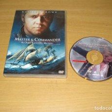 Cine: MASTER & COMMANDER (AL OTRO LADO DEL MUNDO). DVD. CASTELLANO / INGLÉS. BARCODE 840266998033. Lote 151128354
