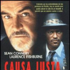 Cine: CAUSA JUSTA DIRECTOR: ARNE GLIMCHER ACTORES: SEAN CONNERY, LAURENCE FISHBURNE, ED HARRIS. Lote 151722486