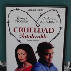 Cine: LMV - CRUELDAD INTOLERABLE, GEORGE CLOONEY / CATHERINE ZETA-JONES. DVD. Lote 151730510