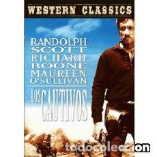 Cine: LOS CAUTIVOS DIRECTOR: BUDD BOETTICHER ACTORES: RANDOLPH SCOTT, MAUREEN O´SULLIVAN, RICHARD BOONE. Lote 151855918