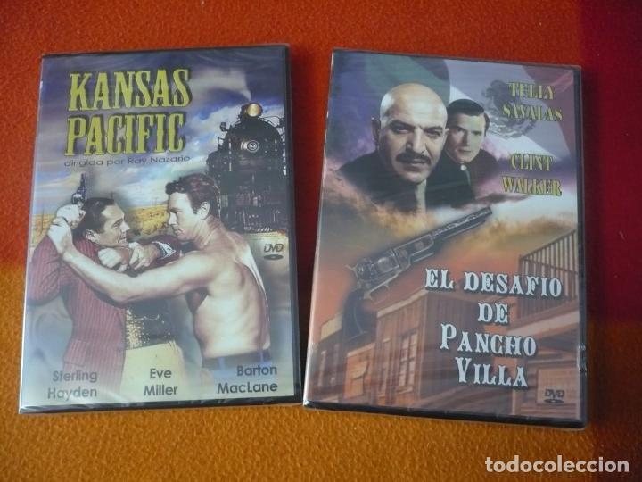 KANSAS PACIFIC + EL DESAFIO DE PANCHO VILLA ( TELLY SAVALAS ) DVD WESTERN OESTE ¡PRECINTADOS! (Cine - Películas - DVD)