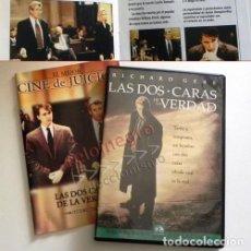 Cine: LAS DOS CARAS DE LA VERDAD DVD Y LIBRETO PELÍCULA SUSPENSE RICHARD GERE EDWART NORTON LINNEY JUICIO. Lote 152230578