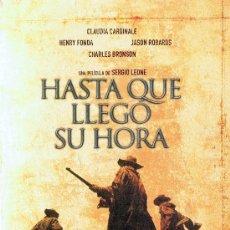 Cine: HASTA QUE LLEGÓ SU HORA HENRY FONDA & CHARLES BRONSON ( 2 DISCOS). Lote 152474146