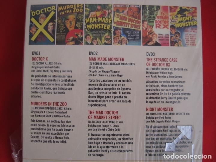 Cine: LIONEL ATWILL BOX--EL DOCTOR X UN SADICO EN HOLLYWOOD --L'ATELIER 13 VINTAGE--LIBRETO-- 3 DVD - Foto 5 - 152675598