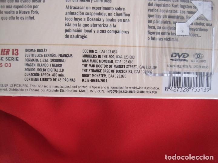 Cine: LIONEL ATWILL BOX--EL DOCTOR X UN SADICO EN HOLLYWOOD --L'ATELIER 13 VINTAGE--LIBRETO-- 3 DVD - Foto 6 - 152675598