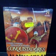 Cine: CONQUISTADORES DVD DOCUMENTAL. Lote 152927185