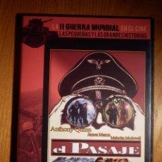 Cine: PELICULA CINE BÉLICO EN DVD - LA SEGUNDA GUERRA MUNDIAL EN EL CINE 15 - EL PASAJE - SLIM. Lote 153010698