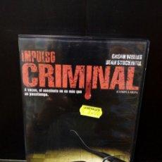 Cine: IMPULSO CRIMINAL DVD. Lote 182986480