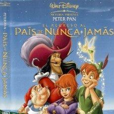 Cine: PETER PAN EL REGRESO AL PAIS DE NUNCA JAMAS DVD. Lote 52582403