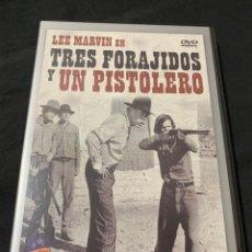Cine: ( V72 ) TRES FORAJIDOS Y UN PISTOLERO - LEE MARVIN ( DVD PROCEDENTE VIDEOCLUB ). Lote 154317082