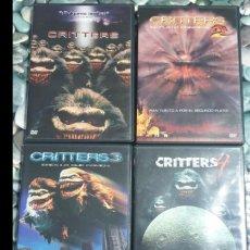 Cine: CRITTERS 1 2 3 4 SAGA COMPLETA DVDS DESCATALOGADOS Y BUSCADOS. Lote 154338610