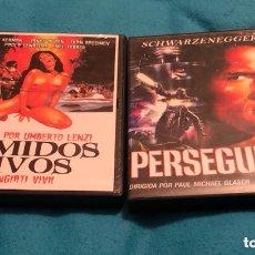 Cine: COMIDOS VIVOS Y PERSEGUIDO. Lote 154506112