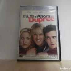 Cine: DVD - TÚ,YO Y AHORA...DUPREE OWEN WILSON. Lote 154677814