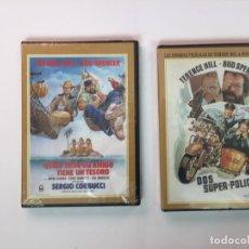 Cine: 2 DVD'S: DOS SUPER-POLICÍAS Y QUIEN TIENE UN AMIGO... (HILL Y SPENCER) MERCURY ¡ORIGINALES!. Lote 154846474