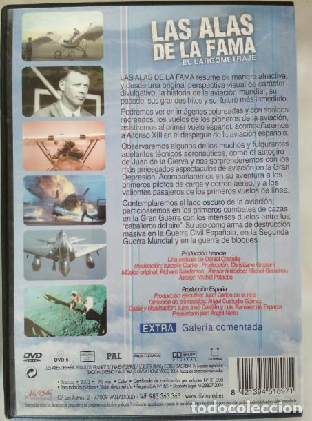 Cine: 100 AÑOS DE AVIACION, LAS ALAS DE LA FAMA, EL LARGOMETRAJE, ANGEL NIETO, DVD - Foto 2 - 155319586