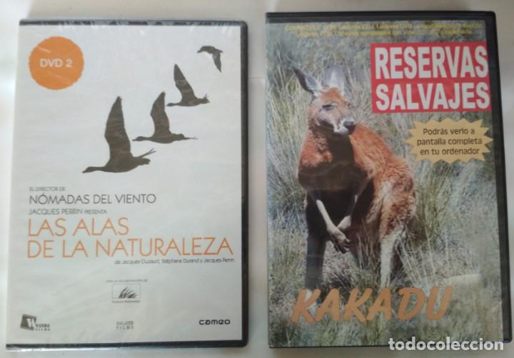 LOTE DE 2 DOCUMENTALES EN DVD, LAS ALAS DE LA NATURALEZA Y RESERVAS SALVAJES KAKADU (Cine - Películas - DVD)