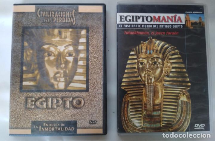 LOTE DE 2 DOCUMENTALES, CIVILIZACIONES PERDIDAS EGIPTO Y EGIPTOMANIA TUTANKHAMON, DVD (Cine - Películas - DVD)