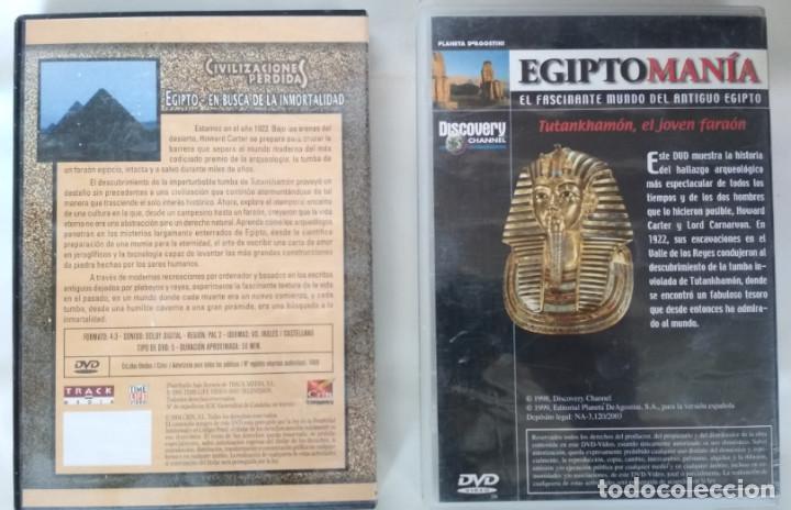Cine: LOTE DE 2 DOCUMENTALES, CIVILIZACIONES PERDIDAS EGIPTO Y EGIPTOMANIA TUTANKHAMON, DVD - Foto 2 - 155320302