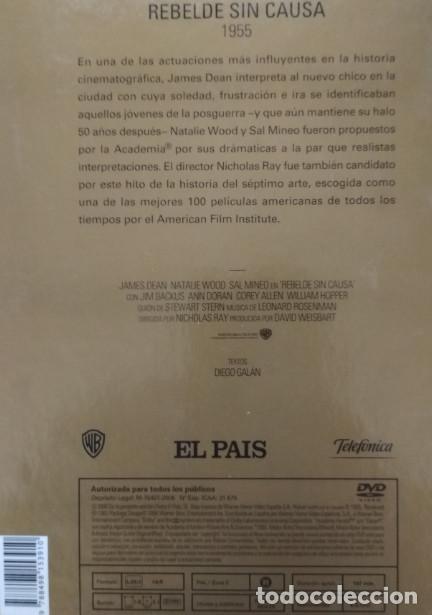 Cine: REBELDE SIN CAUSA, JAMES DEAN, EL PAIS, PELICULA EN DVD + LIBRO - Foto 3 - 155321438