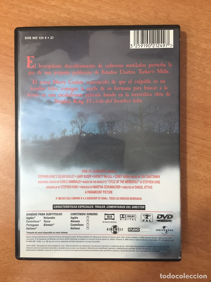 Cine: (S136) Stephen kings - DVD Segunda mano - Foto 2 - 155601201