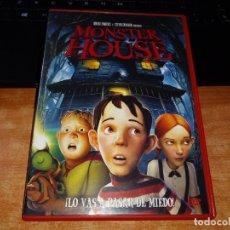 Cine: MONSTER HOUSE LO VAS A PASAR DE MIEDO DVD 2006 ESPAÑA STEVEN SPIELBERG ROBERT ZEMECKIS ANIMACION. Lote 155849954