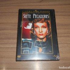 Cine: SIETE PECADORES DVD MARLENE DIETRICH JOHN WAYNE NUEVA PRECINTADA. Lote 156100322