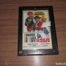 Cine: CUANDO EL ALBA SE TIÑE DE ROJO DVD TONY FRANCIOSA NUEVA PRECINTADA. Lote 156075642