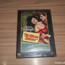Cine: SU GRAN DESEO DVD BARBARA STANWYCK NUEVA PRECINTADA. Lote 156079134