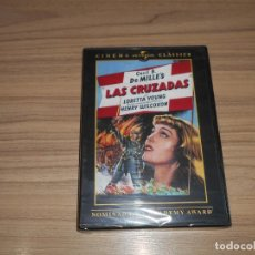 Cine: LAS CRUZADAS DVD DE CECIL B. DEMILLE LORETTA YOUNG NUEVA PRECINTADA. Lote 156079686