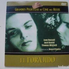 Cine: EL FORAJIDO. COLECCIÓN GRANDES PELÍCULAS DE CINE DEL OESTE. DVD. CARÁTULA DE CARTÓN. . Lote 156146554
