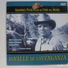 Cine: EL VALLE DE LA VENGANZA. COLECCIÓN GRANDES PELÍCULAS DE CINE DEL OESTE. DVD. CARÁTULA DE CARTÓN.. Lote 156147882