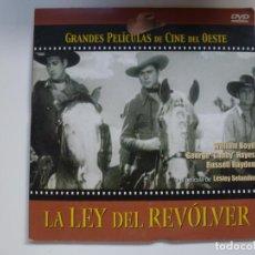 Cine: LA LEY DEL REVÓLVER. COLECCIÓN GRANDES PELÍCULAS DE CINE DEL OESTE. DVD. CARÁTULA DE CARTÓN.. Lote 156148322