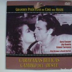 Cine: CARAVANAS BÉLICAS CAMINO DEL OESTE. GRANDES PELÍCULAS DE CINE DEL OESTE. DVD. CARÁTULA DE CARTÓN.. Lote 156149222
