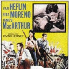 Cine: GRITO DE BATALLA DIRECTOR: IRVING LERNER ACTORES:VAN HEFLIN,RITA MORENO,JAMES MACARTHUR. Lote 156189126