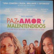 Cine: DVD PAZ AMOR Y MALENTENDIDOS CON JANE FONDA, CATHERINE KEENER, JEFFREY DEAN MORGAN Y ELIZABETH OLSEN. Lote 156192858
