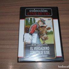 Cine: EL VERDADERO CORAZON DE SUSIE DVD DE D.W. GRIFFITH CINE MUDO NUEVA PRECINTADA. Lote 179386163