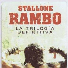 Cine: RAMBO LA TRILOGÍA DEFINITIVA STALLONE ( ESTUCHE METÁLICO 3 DISCOS). Lote 156733466